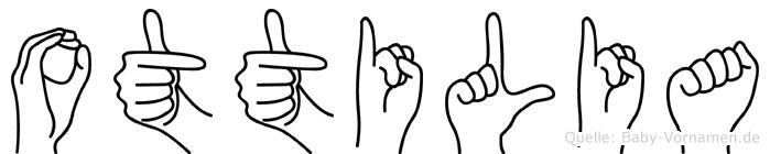 Ottilia im Fingeralphabet der Deutschen Gebärdensprache