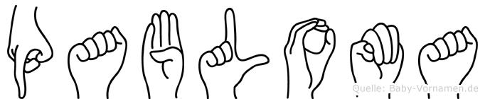 Pabloma in Fingersprache für Gehörlose