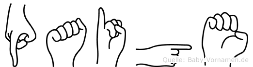 Paige in Fingersprache für Gehörlose