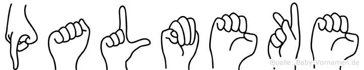 Palmeke in Fingersprache für Gehörlose