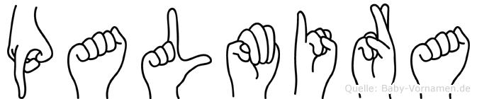 Palmira in Fingersprache für Gehörlose