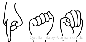 Pam in Fingersprache für Gehörlose