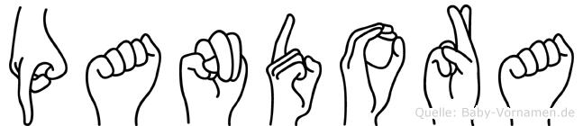 Pandora in Fingersprache für Gehörlose