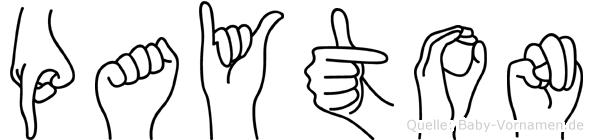Payton im Fingeralphabet der Deutschen Gebärdensprache