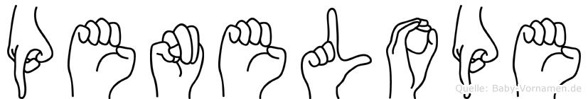 Penelope in Fingersprache für Gehörlose