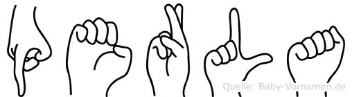 Perla in Fingersprache für Gehörlose
