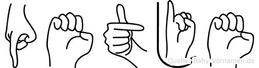 Petje in Fingersprache für Gehörlose