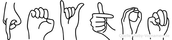 Peyton im Fingeralphabet der Deutschen Gebärdensprache