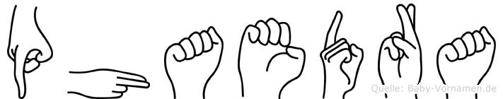 Phaedra im Fingeralphabet der Deutschen Gebärdensprache