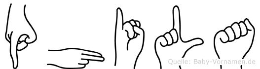 Phila in Fingersprache für Gehörlose