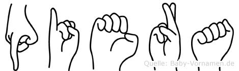 Piera im Fingeralphabet der Deutschen Gebärdensprache