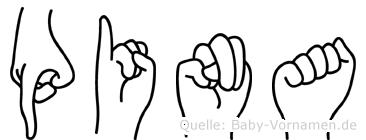 Pina in Fingersprache für Gehörlose