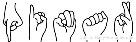 Pinar im Fingeralphabet der Deutschen Gebärdensprache