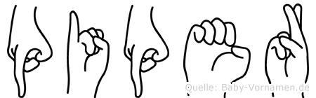 Piper in Fingersprache für Gehörlose