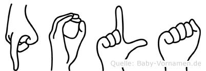 Pola in Fingersprache für Gehörlose