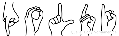 Poldi in Fingersprache für Gehörlose