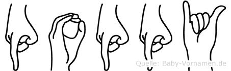 Poppy in Fingersprache für Gehörlose