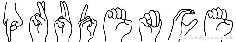 Prudence in Fingersprache für Gehörlose