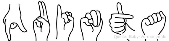 Quinta im Fingeralphabet der Deutschen Gebärdensprache