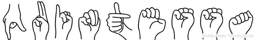 Quintessa in Fingersprache für Gehörlose