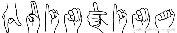 Quintina in Fingersprache für Gehörlose