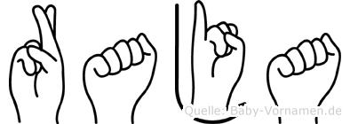 Raja im Fingeralphabet der Deutschen Gebärdensprache