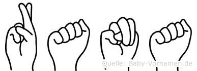 Rana in Fingersprache für Gehörlose