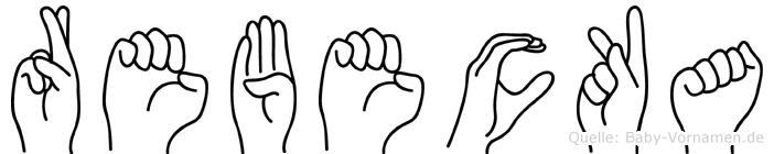 Rebecka im Fingeralphabet der Deutschen Gebärdensprache