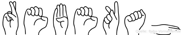 Rebekah im Fingeralphabet der Deutschen Gebärdensprache