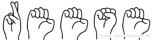 Reese in Fingersprache für Gehörlose