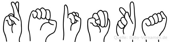Reinka im Fingeralphabet der Deutschen Gebärdensprache