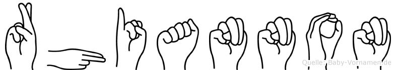 Rhiannon im Fingeralphabet der Deutschen Gebärdensprache