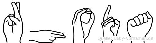 Rhoda in Fingersprache für Gehörlose