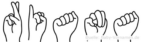 Riana in Fingersprache für Gehörlose