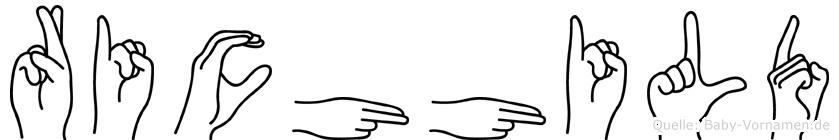 Richhild in Fingersprache für Gehörlose