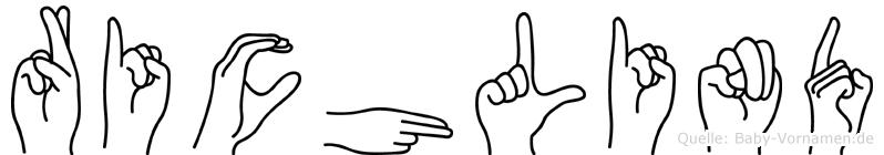 Richlind in Fingersprache für Gehörlose