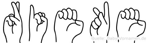 Rieke in Fingersprache für Gehörlose