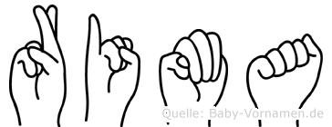 Rima in Fingersprache für Gehörlose