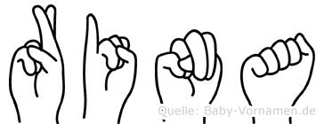 Rina in Fingersprache für Gehörlose
