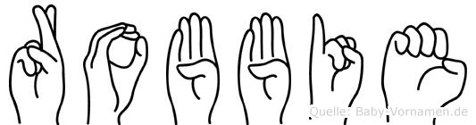 Robbie in Fingersprache für Gehörlose