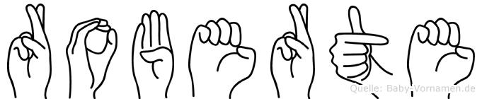 Roberte im Fingeralphabet der Deutschen Gebärdensprache