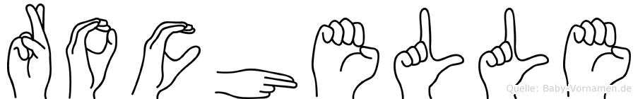 Rochelle im Fingeralphabet der Deutschen Gebärdensprache