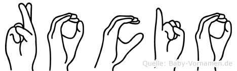 Rocio im Fingeralphabet der Deutschen Gebärdensprache