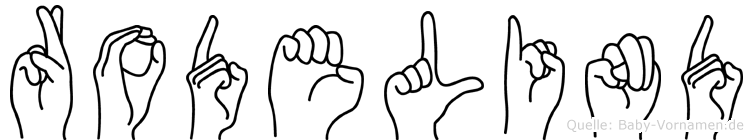Rodelind im Fingeralphabet der Deutschen Gebärdensprache