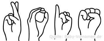 Rois im Fingeralphabet der Deutschen Gebärdensprache