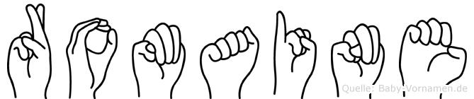 Romaine im Fingeralphabet der Deutschen Gebärdensprache