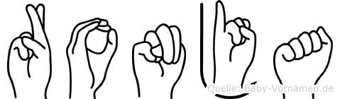 Ronja in Fingersprache für Gehörlose