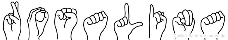 Rosalina in Fingersprache für Gehörlose