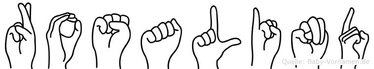Rosalind im Fingeralphabet der Deutschen Gebärdensprache