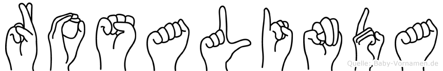 Rosalinda im Fingeralphabet der Deutschen Gebärdensprache